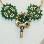 Steampunk Necklace of Beaded Gears ..