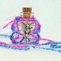 Necklace Beaded Bottle Fairy